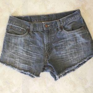 Levi's 514 DIY cut off jean shorts
